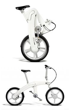 The Mando Footloose is the worlds first chainless electric, folding bike. €5,000 There is a pedal alternator to generate electricity from pedalling, an in-frame battery and automatically geared motor are placed in series to create a new way of cycling. Free from gears and chains, the bike takes off quickly as you cycle, and moves as you move. Incredibly, all of this is fitted into a sculpted aluminium chassis that houses the battery and intelligent integrated computer.