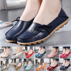fbff7ed89b7 Womens Casual Leather Slip On Comfort Ladies Moccasin Oxfords Loafers Flat  Shoes  fashion  clothing