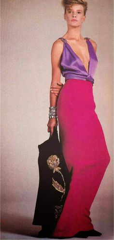 Yves Saint Laurent .Vogue October 1984
