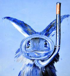"Saatchi Art Artist: Eckhard Besuden; Oil 2010 Painting ""Hannes Seehas blau"""