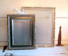 Jewelry organizer Dorm decor Silver Framed by jensdreamdecor