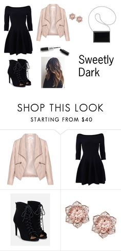 """Sweetly Dark"" by emclifford ❤ liked on Polyvore featuring Zizzi, Jonathan Simkhai, JustFab and Nine West"