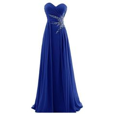 Dresstells Sweetheart Beading Floor-length Chiffon Prom Dress Evening... ($67) ❤ liked on Polyvore featuring dresses, gowns, long dresses, chiffon prom dresses, beaded prom dresses, long prom dresses and prom ball gowns