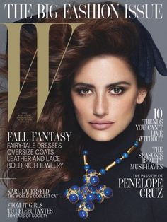 Penelope Cruz Covers W Magazine