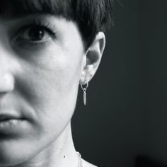 Tiny Sterling Silver Bullet Hoop Earrings - MDG Jewellery Available on the boutique www.antelopeshop.com
