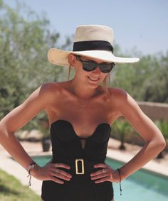 Great hat and sunglasses - Such a stylish way to protect yourself from the sun www.fashionaccessoryshop.com #fashion