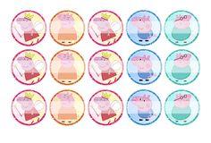 "Peppa Pig (Fairy) - 1"" Bottle Cap Designs / DIY Hair Accessories / DIY Earrings / DIY Necklace / DIY Key Chain / Birthday Party / Party Favors / DIY Magnets / Bottle Cap Crafts / Bottle Cap Art / Bottle Cap Ideas / Bottle Cap Party Favors / Children Party Ideas / Children Party Themes / Kid Party Ideas / DIY Party Ideas"