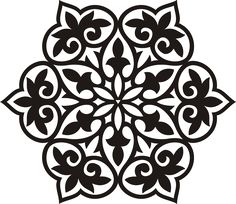 Flower filigree snowflake stencil