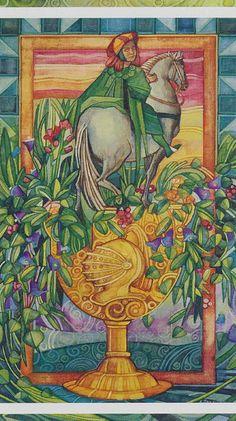 Le cavalier de coupes - Tarot cristal par Elisabetta Trevisan
