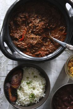 Ropa Vieja con Frijoles Colorados/Braised Shredded Beef Stew with Red Beans - The Latin Road Home | hungry sofia
