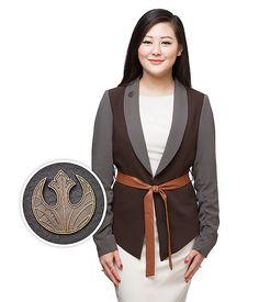 Women's Star Wars Rey peplum blazer at ThinkGeek ⭐️The Kessel Runway ⭐️ Star Wars fashion ⭐️ Geek Fashion ⭐️ Star Wars Style ⭐️ Geek Chic ⭐️