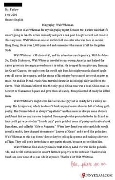 peter essay walt whitman