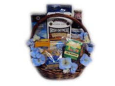 Gluten free relaxation valentines day gift basket for her blueberry healthy gift basket blueberries contain ellagic acid which has anti cancer properties negle Choice Image