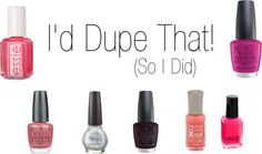 drugstore nail polish dupe video with swatches Beauty Dupes, Makeup Dupes, Makeup Art, Beauty Nails, Beauty Makeup, Hair Beauty, Nail Polish Dupes, Essie, Bobbi Brown