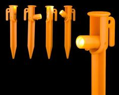 4 Pack of Illuminated LED tent pegs Know where you stand with these bright little pegs