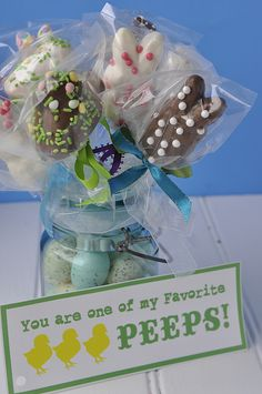 You are one of my favorite peeps...dipped in chocolate and sprinkles and on a stick Peeps