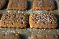 graham crackers - can be cut like sugar cookies.  Cinnamon topping optional.