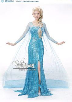 Disney Frozen Elsa the Snow Queen Bestnote Cosplay-Kostüm-Kleid(Mailen Sie uns Ihre Größe) NarutoAmystore http://www.amazon.de/dp/B00JABJCSG/ref=cm_sw_r_pi_dp_y15Aub02GR44A