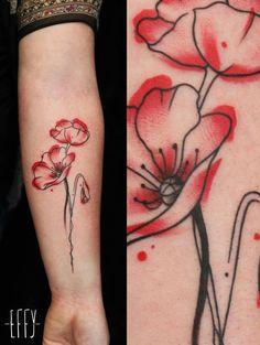 Tatoo watercolor  Flowers