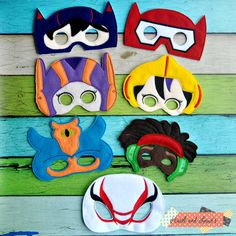 big hero mask, hero mask, baymax, costume, dress up, felt mask, mask, birthday party, party favors, big hero 6, robot mask, halloween, felt