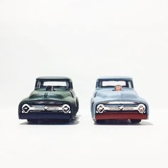 Ready to race! 3...2...1...  '56 Ford Truck for #variationsunday #hotwheels #hwc #toypics #toycrew #fordtrucks #ford