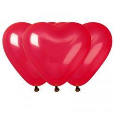 Idéal pour apporter une touche d'amour dans votre décoration, ce sachet de 10 ballons cœurs rouges seront parfait pour votre mariage, ou encore pour la Saint Valentin!
