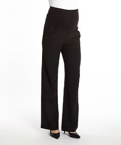 Look at this Times 2 Black Over-Belly Maternity Pants on #zulily today!