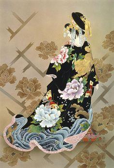 Haruyo Morita Flowers Geisha J. by MGL Licensing Avatar Photo, Japan Painting, Painting Art, River Painting, Art Paintings, Geisha Art, Art Asiatique, Art Japonais, Japanese Embroidery