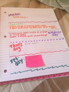 make a workout journal to keep you morivated!