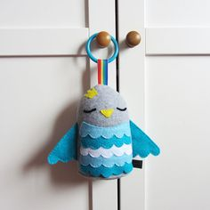 Royal Baby Toy Blue Prince Hanging Plush Bird by MadeByEdenGrace, £9.50