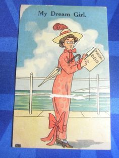 Comic Postcard 1910s Suffragette VOTES FOR WOMEN WOMENS RIGHTS Theme