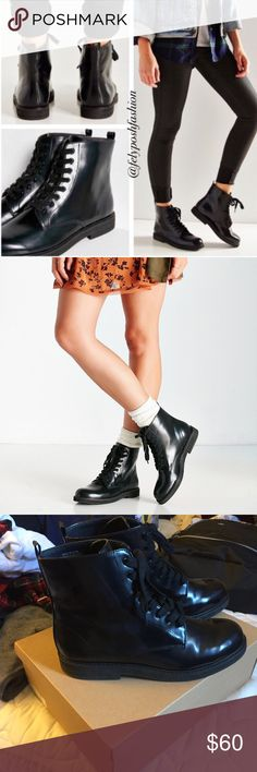 """NEW Urban Outfitters """"Chase"""" booties size 9 Size 9 women's. True to size. Brand new, never worn. Some minor scuffing from being inside the box. **NO TRADES** similar to doc martens Urban Outfitters Shoes"""