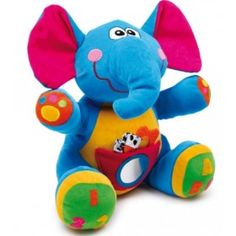 Small Foot Plyšový Slon Linus - My site Baby Bath Seat, Bath Seats, Baby Needs, Smurfs, Kids Toys, Dinosaur Stuffed Animal, Animals, Color, Baby Products