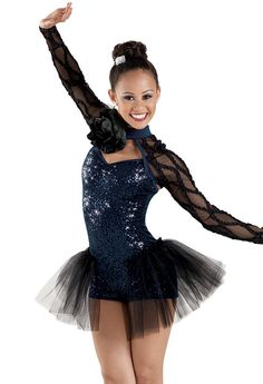 Sheer Shrug Sequin Biketard -Weissman Costumes