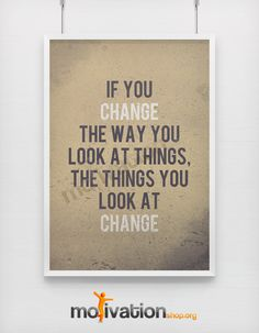 Change the way you look at things Motivational door MotivationShop