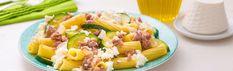 Pasta con Ricotta - Ricetta con Zucchine, Salsiccia Piccante e Ricotta | Vallelata
