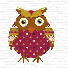 Owl  Clipart Single commercial use Fall / Autumn Owl / Thanksgiving Clip Art / Digital Clipart  Bird clipart Fall clipart autumn owl
