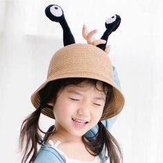f3f01f97785 Funny monster bucket hats with tentacles eyes straw bowler hat for kids