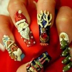 This is like the manicure version of an ugly Christmas sweater.