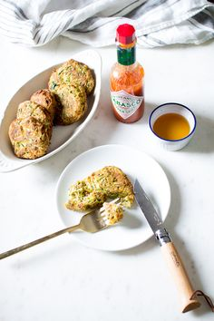 Flourishing Foodie: Zucchini Fritters with a Honey Dipping Sauce