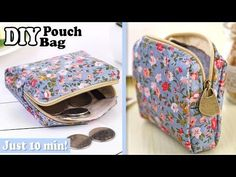 Very straightforward diy pouch bag tutorial for protecting cash or bank cards. ✂ Supplies you have to make this DIY pouch Diy Coin Pouches, Diy Pouch Bag, Tote Bag, Coin Purse Tutorial, Zipper Pouch Tutorial, Tote Tutorial, Purse Patterns, Pouch Pattern, Sewing Patterns