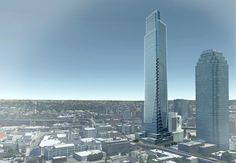 Rendering of the planned Court Square City View Tower at 23-15 44th Drive in Long Island City (credit: United Construction & Development Group)