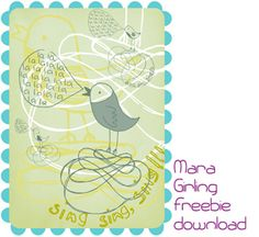 Feed Your Soul: the free art project, free birds singing lalala printable for girl's room