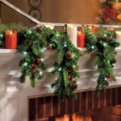 6' Battery Operated Cascading Garland with Lights