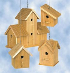 Cedar Birdhouses #3 Plan Welcome nesting birds this spring with these four simple-to-make rustic cedar birdhouses. Cedar is always attractive and will last for many years so you'll be able to enjoy th