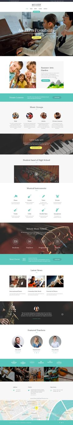 Melody is a modern and functional design #WordPress theme for #music school, visual #arts classes website download now➯ https://themeforest.net/item/melody-music-school-wordpress-theme/16390492?ref=Datasata