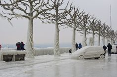 The 2012 ice storm that hit Versoix, Switzerland