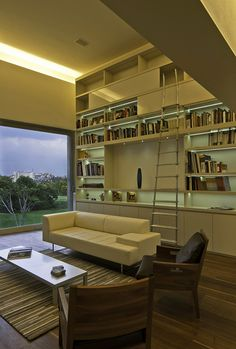 Awesome Living Room Design Wooden Flooring, Marble Wall Sofa Bookcase