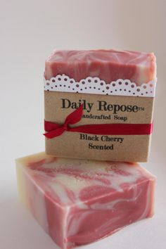 Black Cherry Soap Scented Cold Process cherries