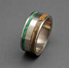 Spring Eternal- Wooden Wedding Rings